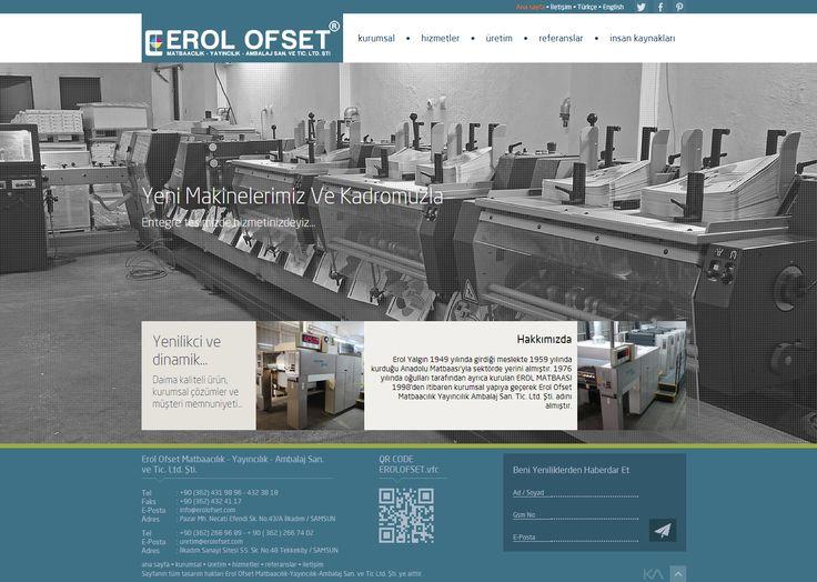 Erol Ofset Matbaacılık - Yayıncılık - Ambalaj San. ve Tic. Ltd. Şti.   Web Design