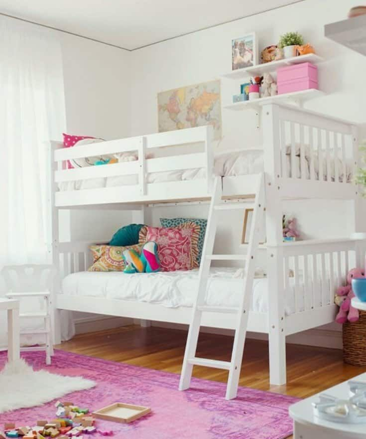 Girl Room Ideas With Bunk Beds Shared Girls Bedroom Bed For