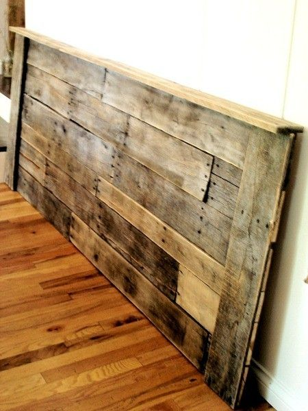 homemade headboard..since we don't have the space for a full bed frame.