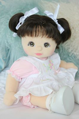 My Child Doll Euro with brown hair, brown eyes and charcoal makeup
