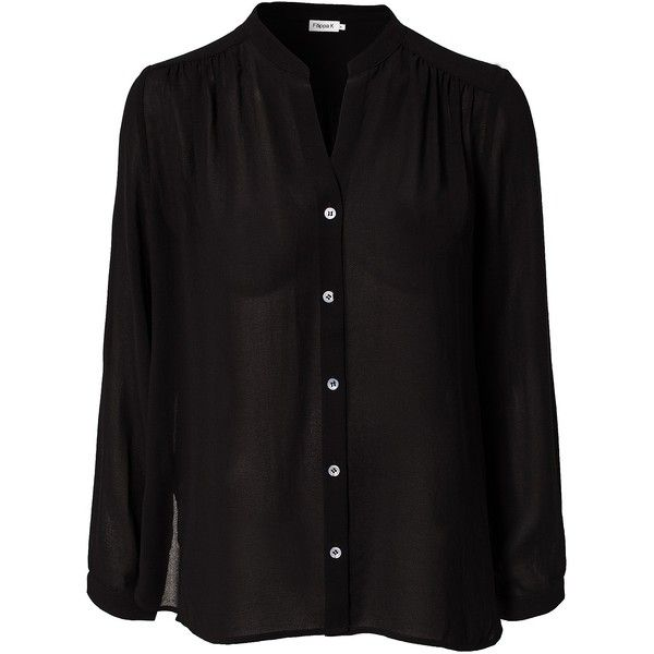 Filippa K Crepe Shirt Blouse ($200) found on Polyvore