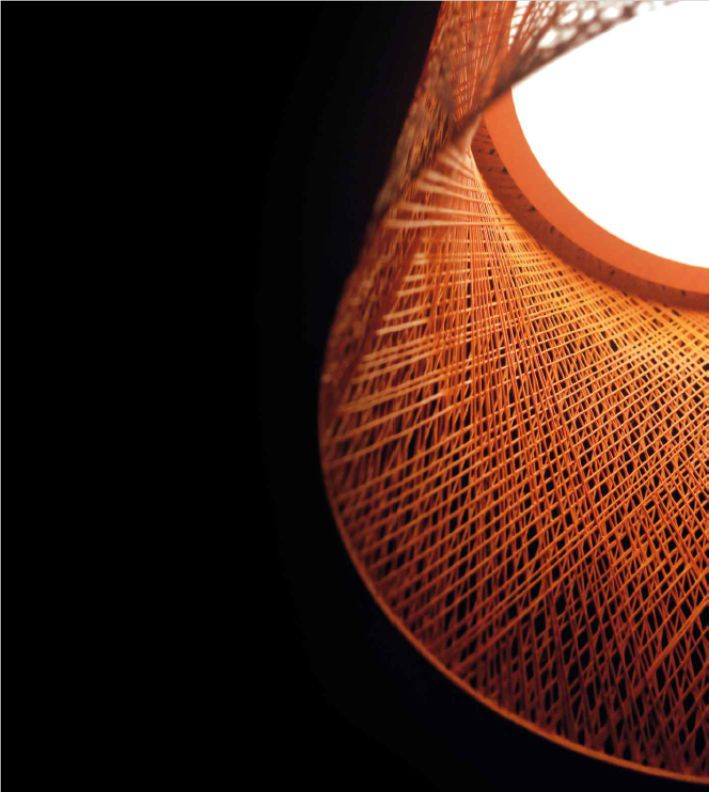 The choice of a material, glass fibre, which is produced industrially by means of an innovative use of filament winding technology, gives this collection an appearance which unites technology with tradition