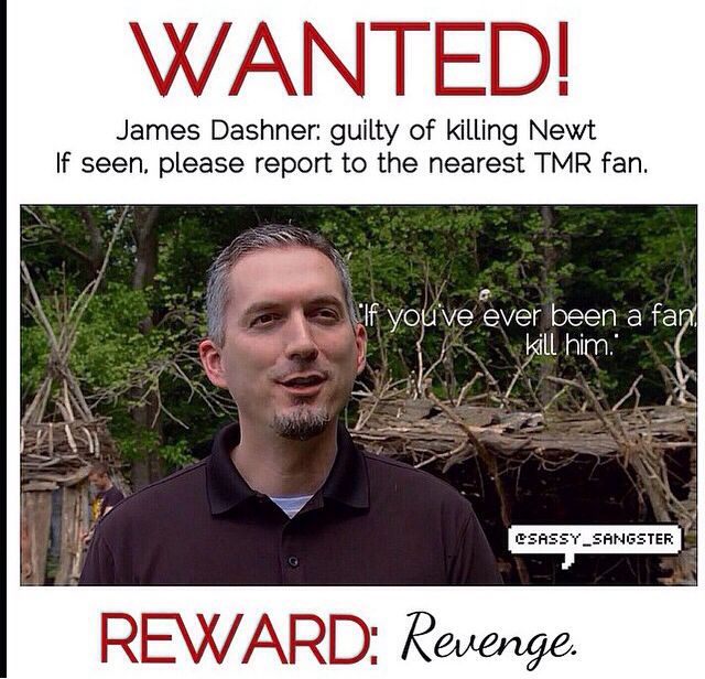 Funny but I wouldn't kill James Dashner cuz then we wouldn't get Fever Code....