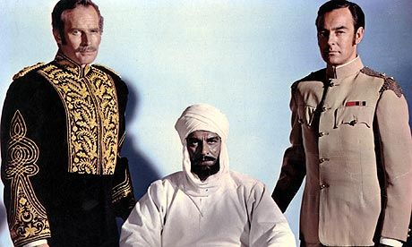 """Must-see movie (otherwise you won't believe how bad it was): """"KHARTOUM"""" 1966 British-Hollywood co-production. """"Entertainment; D+. History: C-."""" This review itself is hysterical. -- """"Reel history: Khartoum: blackface Olivier scrapes the bottom of some macabre barrels"""" - """"...In the 1960s, casting agents must have actually said things like: """"So, we need a Sudanese Nubian … how about Laurence Olivier?"""" See this flick! (We saw it on European cable TV.)"""