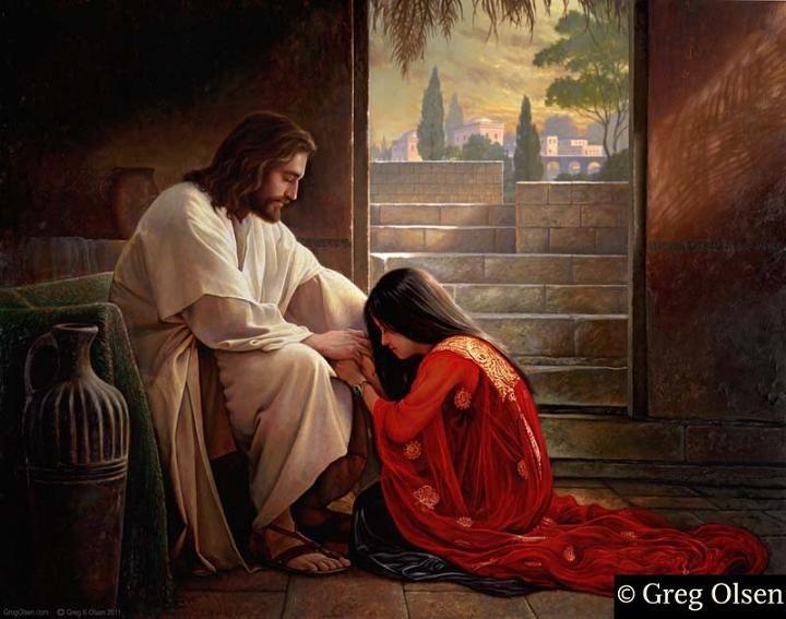 greg olsen pictures of christ   Greg Olsen Christian Art Jesus Christ: Forgiven