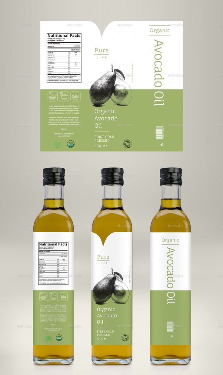 Avocado Oil, Coconut Oil & Almond Oil Label almond oil, avocado ...