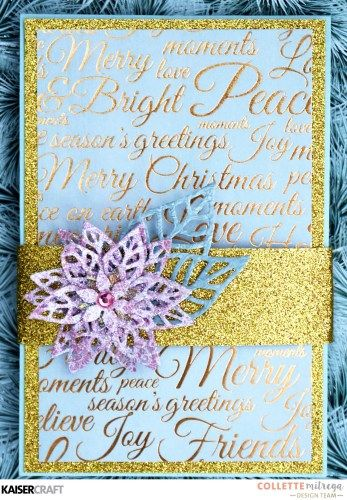 'Twist and Pop' Christmas Card + Video Tutorial by Collette Mitrega Design Team member for Kaisercraft (learn more at kaisercraft.com.au/blog-twist-pop- this-christmas-with-collette ) using 'Christmas Wishes' collection ~ Wendy Schultz ~ Christmas Cards + Tags.