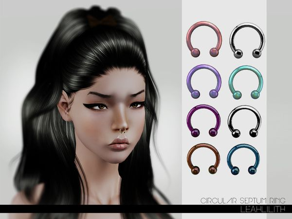 Circular Septum Ring by Leah Lillith • Sims 3 Downloads CC Caboodle