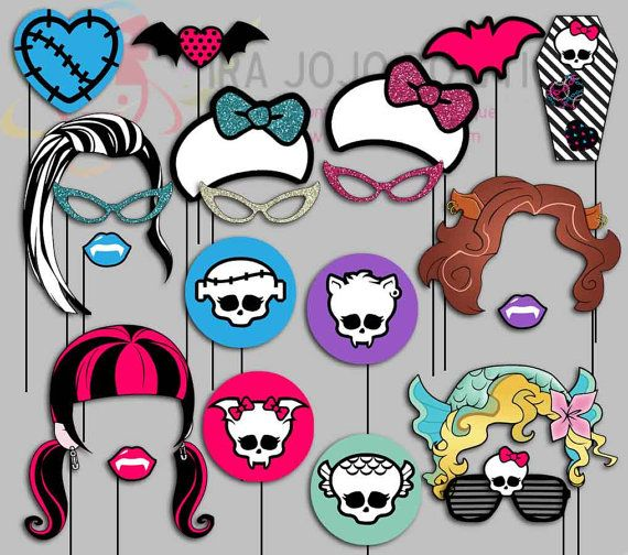 Monster High Party Photo Booth Props Monster by IraJoJoBowtique