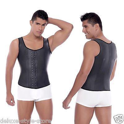 Ann Michell Men Latex Vest Body Shaper Faja Colombiana Chaleco PARA HOMBRE 2033