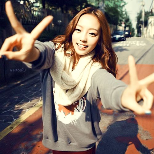 This is a picture of  Ha-ra Goo from the Kpop girl band Kara.