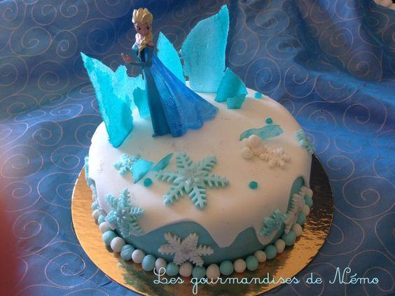 Gâteau Reine des neiges avec Elsa