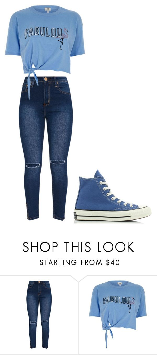 """""""Untitled #359"""" by thenerdyfairy on Polyvore featuring River Island and Converse"""