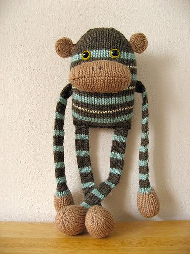 hilarious knit monkey for when I learn to knit