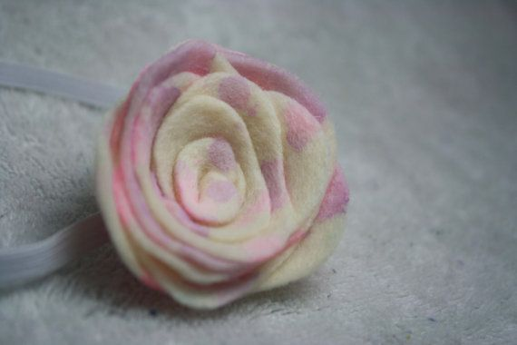These Pastel Barbie Roses are absolutely beautiful. They are handcrafted using hand dyed felt. Making each one unique. The beautiful tie dyed pink and