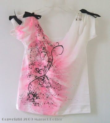 iLoveToCreate Blog: Pretty in Pink Altered T-Shirt by Margot Potter for I Love to Create