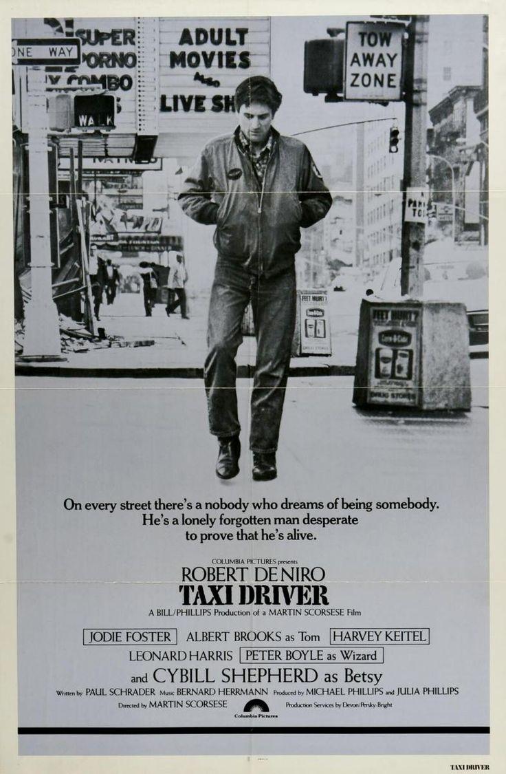 """Taxi Driver""  DIRECTOR Martin Scorsese  AÑO 1976  REPARTO Robert De Niro, Cybill Shepherd, Jodie Foster, Albert Brooks, Harvey Keitel, Peter Boyle, Leonard Harris, Martin Scorsese"
