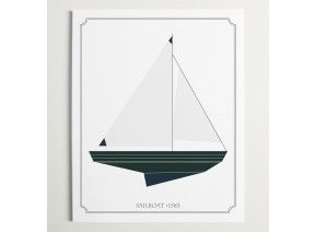 Sailboat No 1583 Print Brika For The Home Pinterest
