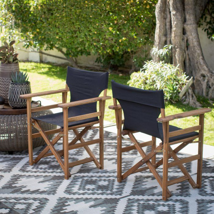 Coral Coast Outdoor Directors Chair Set Of 2 With Images