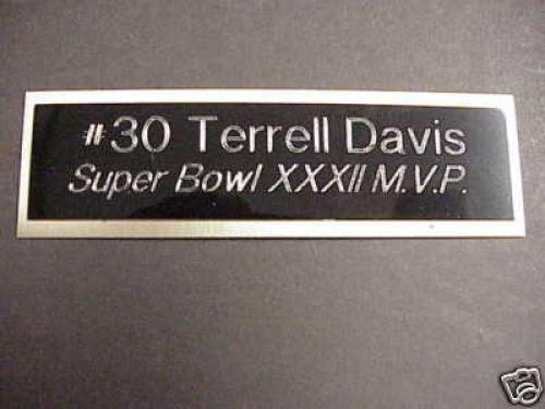 Terrell Davis helps get Denver Broncos there first SuperBowl MVP  Great job Terrell
