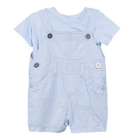Absorba Baby Boy Shortie Dungaree and T Shirt Set - Dandy Lions Boutique