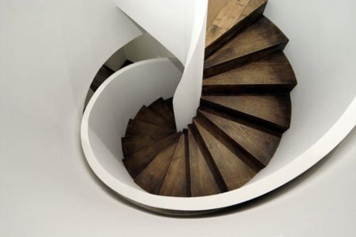 tight spiral stair