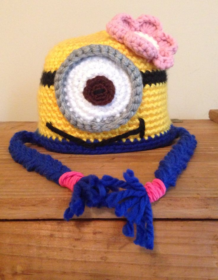 Free Crochet Pattern For Girl Minion Hat : 17 Best images about Minions on Pinterest Amigurumi doll ...