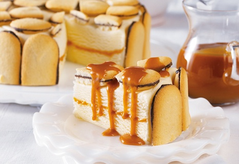 Campbell's Kitchen: Cookie & Caramel Ice Cream Cake