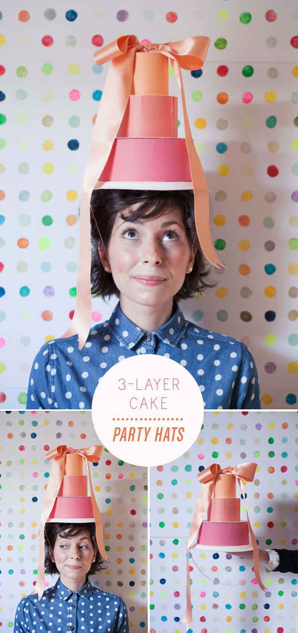 Ensure your birthday girl is the tallest person in the room with this 3-layer cake hat.