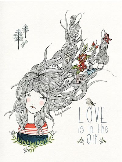 Image of PRINT LOVE IS IN THE AIR