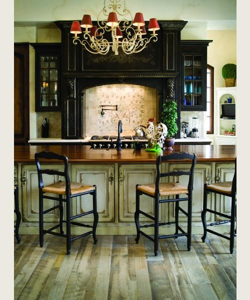 KitchenDecor, Ideas, Cabinets Colors, Kitchens Design, Dreams Kitchens, Floors, Black Cabinets, French Country, House