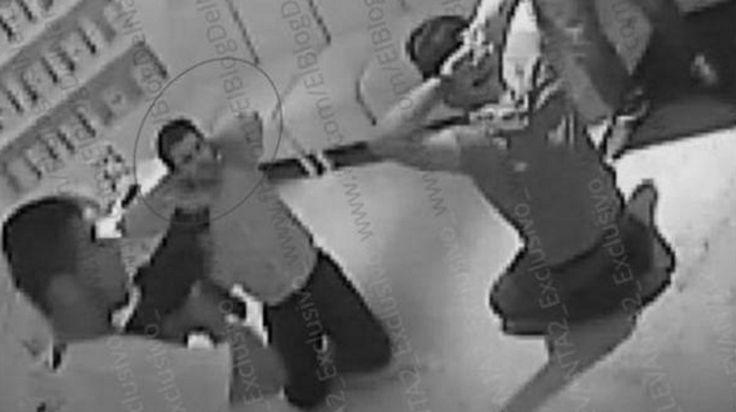 """Las imágenes del secuestro del hijo de """"El Chapo"""" Guzmán mientras cenaba en un restaurante"""