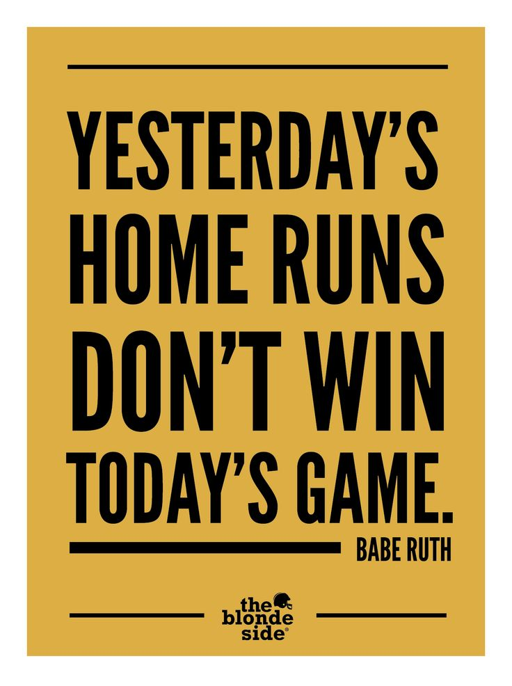 #baberuth #sports #quotes - awesomeness. Focus on the forward. TheBlondeSide.com