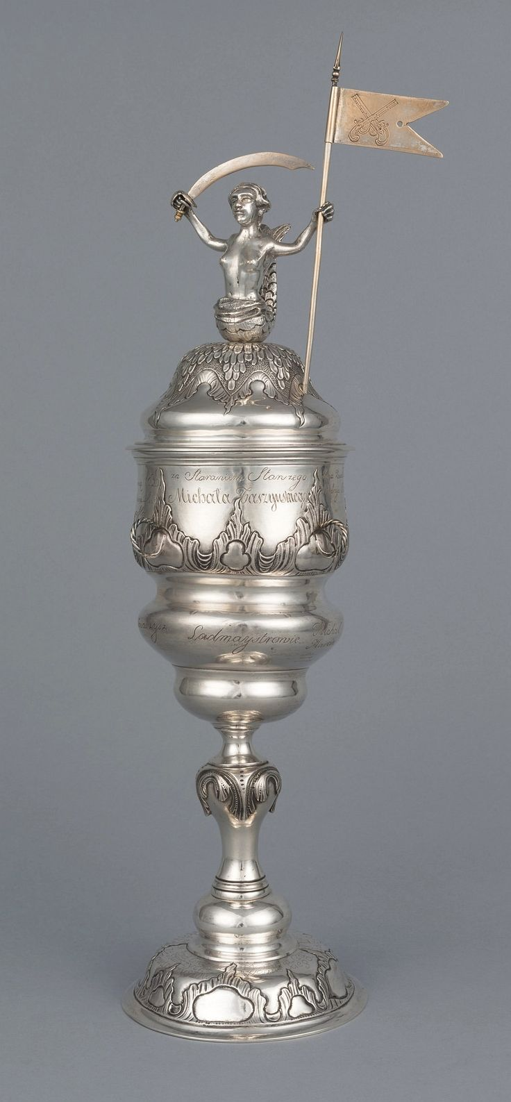 Silver cup of the locksmiths' guild by Anonymous from Warsaw, ca. 1759, Muzeum Warszawy