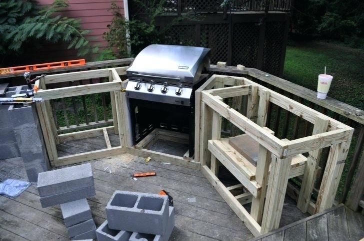 How To Build A Bbq Island With Cinder Block Block Outdoor Kitchen