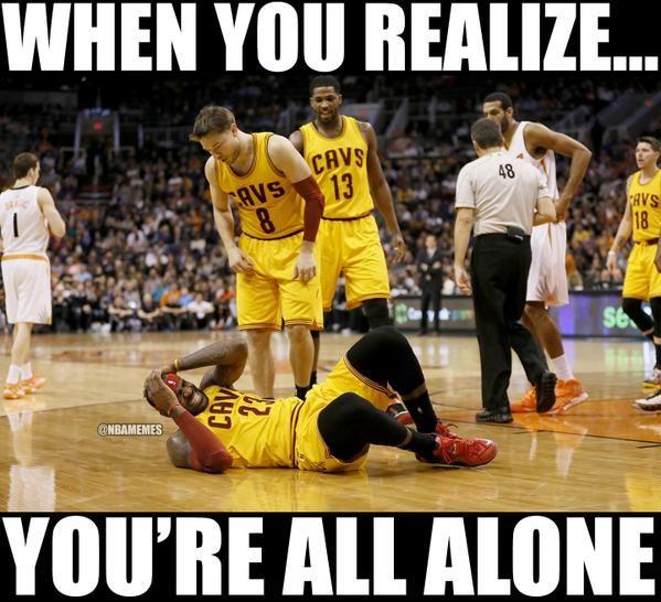 LeBron James after hearing the Kyrie Irving injury news. - http://nbafunnymeme.com/nba-memes/lebron-james-after-hearing-the-kyrie-irving-injury-news