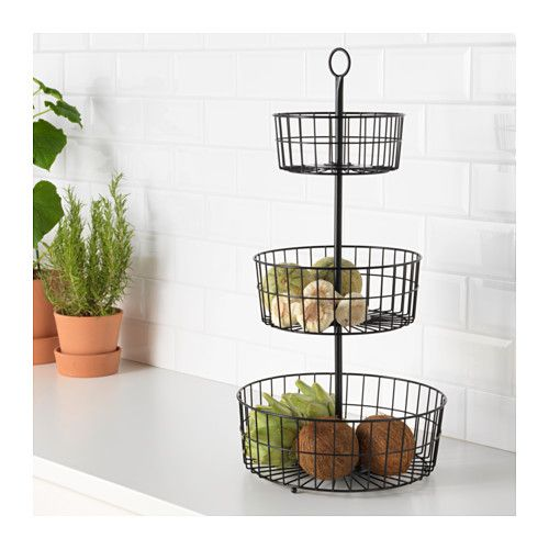 SOMMAR 2017 3-tier basket  - IKEA - OMG - can I hang this from hooks from the ceiling and use this for storage or display in the craft room???