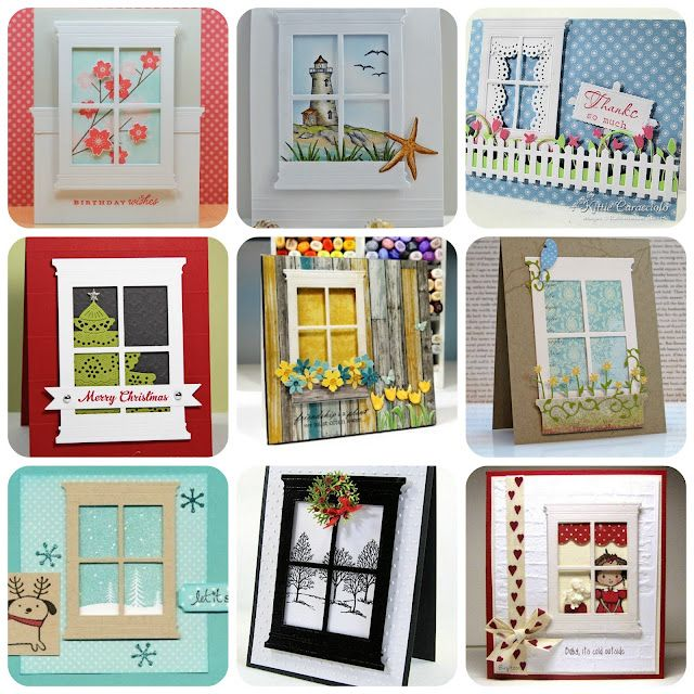 Great ideas for window dieDie Cut, Windows Cards, Cards Ideas, Windows Die, Memories Box, Madison Windows, Cards Inspiration, Poppystamps Madison, Cards Windows
