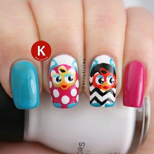 furby by kerruticles #nail #nails #nailart