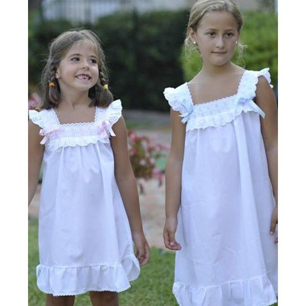 Camisón corto de algodón de niña