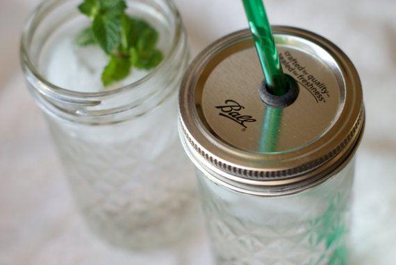tumbler: Ball Jars, Canning Jars, Mason Jars Lids, Sippy Cups, Mason Jars Drinks, Mason Jars Tumblers, Jars Ideas, Drinks Cups, Mason Jars Straws