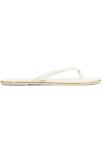 Slight heel White and gold patent-leather Slip on Designer color: Yacht Party