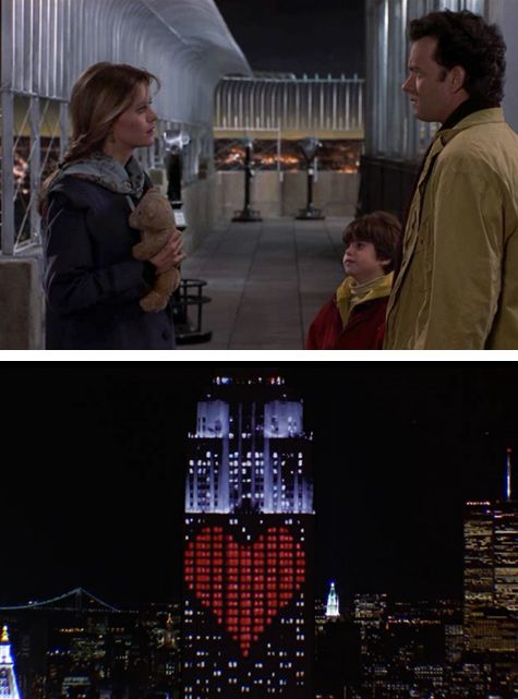 When Annie (Meg Ryan) and Sam (Tom Hanks) finally meet at the top of the Empire State Building.  Sleepless in Seattle.