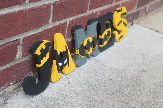 Batman Wooden Letters/ Batman letters/Batman by BASECreations