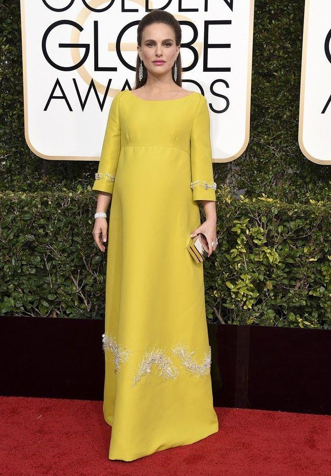 Natalie Portman decepciona en los Globos de Oro 2017 con un vestido amarillo nada favorecedor by Trendencias  #Other