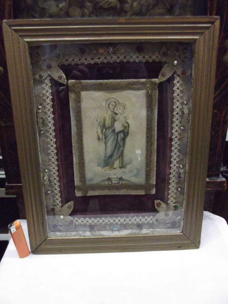 Grand reliquaire st François Ste Claire St Antoine de Padoue Ste Colette XIXe