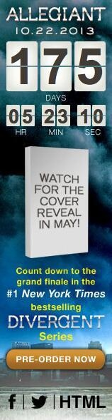 Allegiant (Divergent Book 3) Cover to be Revealed in May!