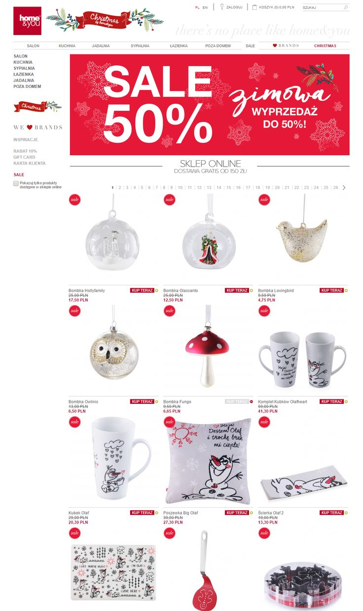 Home & You. Category - products list. Nice designed banner in top.