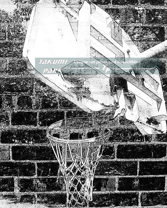 Looking for some nice basketball decor? This black and white basketball artwork is a photo print. The size of this basketball art is available in different sizes. Basketball art by Takumi Park. $15.88 and up.