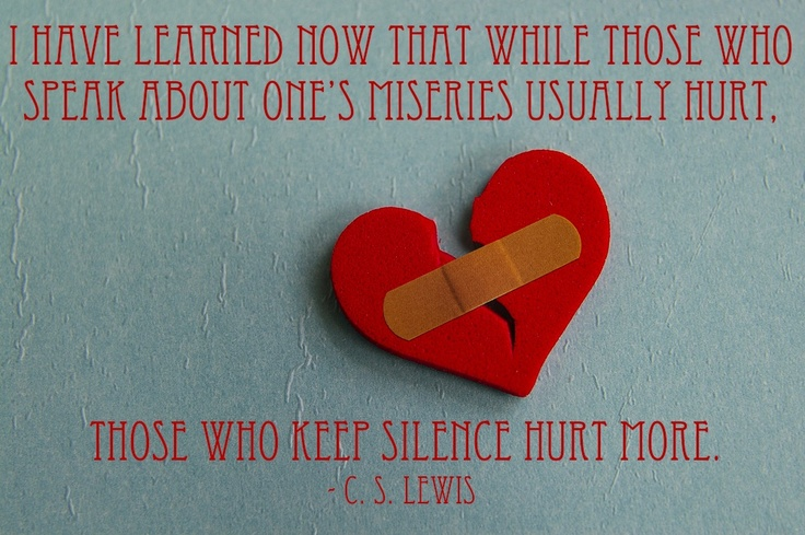 """""""Collected Letters of C. S. Lewis - 2006"""" (CSLewisDaily): Silence Hurts, Speak, Thought, One S Miseries, Dr. Who, Cs Lewis, C S Lewis Quotes"""